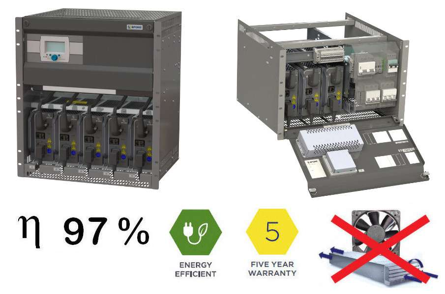 Powernet and EFORE Launch New Modular OPUS HE 7U and HE 12U Racks for MHE High Efficiency Rectifiers